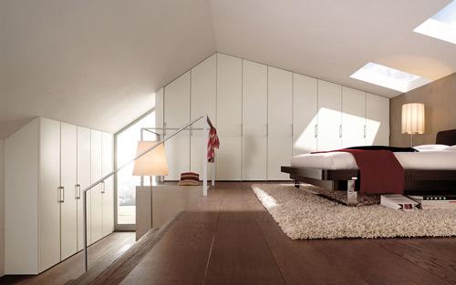 Dormitor la mansarda - Moderne wasruimte ...